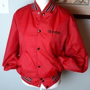 Vintage University of Georgia bomber jacket